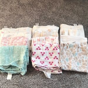 Aden and Anais Muslin swaddles